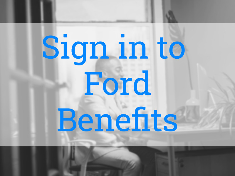 Sign in to MyFordBenefits